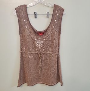 American Exchange Sequin Tank Top Medium